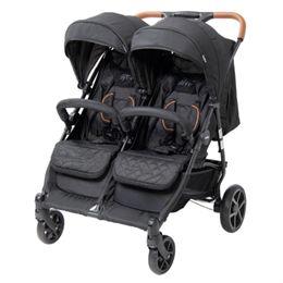BabyTrold tvillinge-/søskendeklapvogn - OS2 - Sort