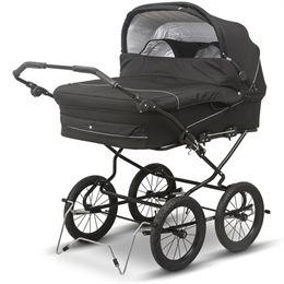 BabyTrold tvillingebarnevogn - Trille Twin - Sort