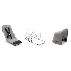 Bugaboo Komplet Donkey² Duo Stof Sæt Mineral Light Grey One Size