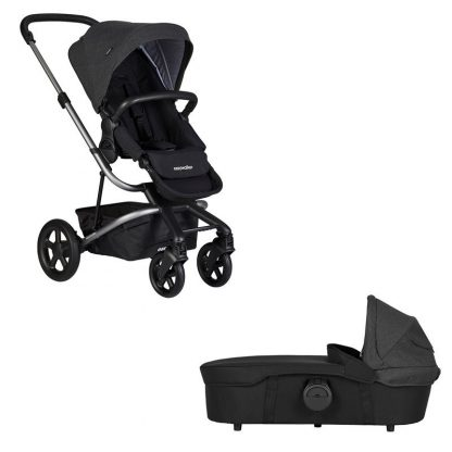 Easywalker Harvey² Barnvagn och liggdel Night Black Platinum Edition