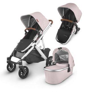 UPPAbaby UPPAbaby Siblings Stroller VISTA V2 Stroller + VISTA/CRUZ 2 Carrycot + VISTA V 2 Rumble Seat 2 Alice Dusty Pink