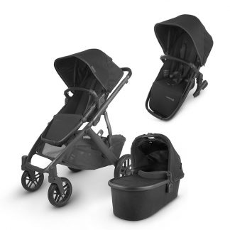 UPPAbaby UPPAbaby Siblings Stroller VISTA V2 Stroller + VISTA/CRUZ 2 Carrycot + VISTA V 2 Rumble Seat 2 Jake Black Carbon