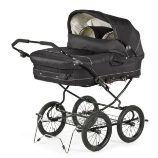 BabyTrold tvillingebarnevogn - Trille Twin - Sort