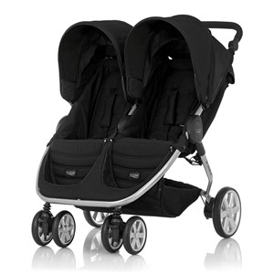 Britax B-Agile Double Klapvogn Cosmos Black One Size